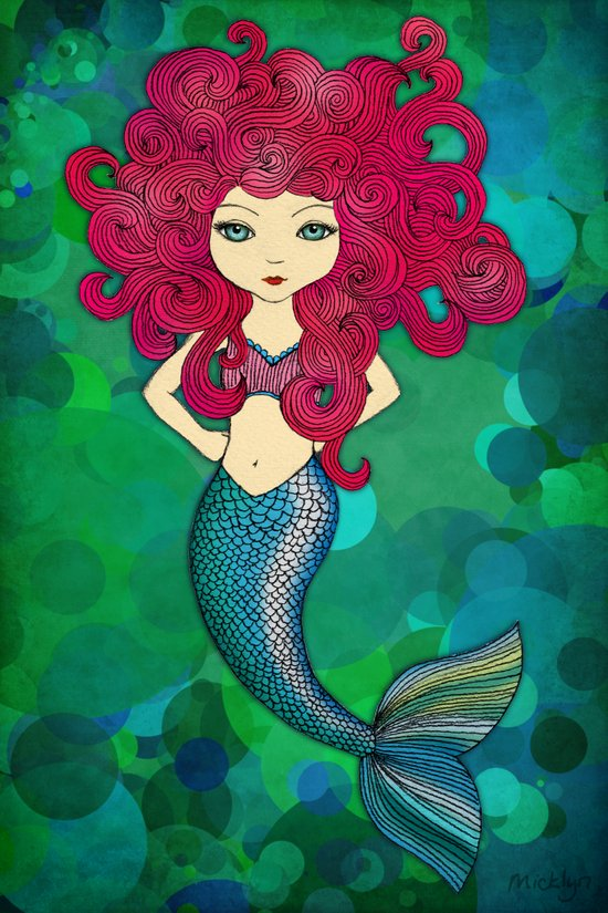 Some days I wear my hair, other days my hair wears me. (Mermaid.) Art Print