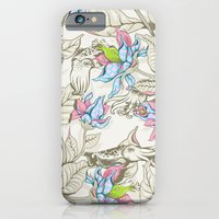 iPhone Cases featuring The Sea Garden - pastel by Lidija Paradinović Nagulov - Celandine