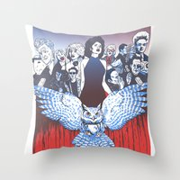 BLACK LODGE BURLESQUE Throw Pillow