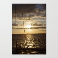 Sunset in NC Canvas Print