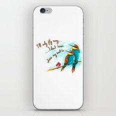 Lost birds iPhone & iPod Skin