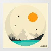 GLACIER NATIONAL PARK, Two Medicine Lake Canvas Print
