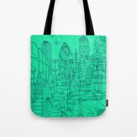 London! Mint Tote Bag