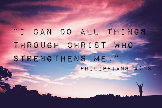 Philippians 4:13 in Nature Art Print