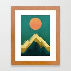 Gold Peak Framed Art Print