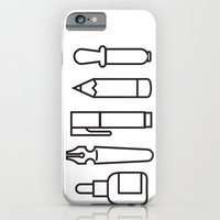 iPhone & iPod Case featuring CREATIVE TOOLS / Geometrical portrait of my creative tools. by The Modern Era