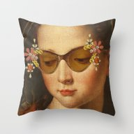 Throw Pillow featuring LOUD AND CLEAR by Julia Lillard Art