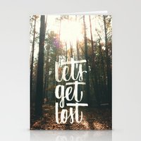 Let's Get Lost ^_^  Stationery Cards