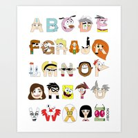 Child Of The 00s Alphabe… Art Print