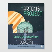 The Artemis Project Canvas Print