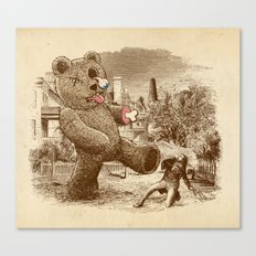 Teddy's Back! Canvas Print
