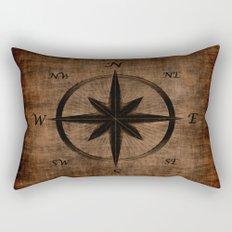 Nostalgic Old Compass Rose Rectangular Pillow