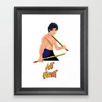 Art Fight Framed Art Print