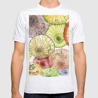 Paper Umbrellas Mens Fitted Tee Ash Grey SMALL