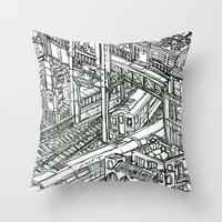 The Town of Train 1 Throw Pillow