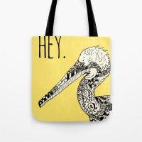 Doodle Bird Tote Bag