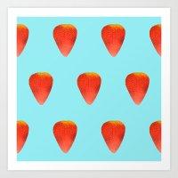 Strawberry Pattern Art Print
