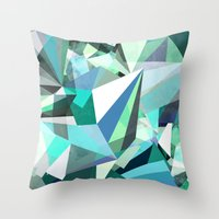 Colorflash 8 Mint Throw Pillow