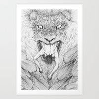 The Giant Winged Lion Art Print