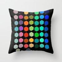 Darth Color Chart Throw Pillow