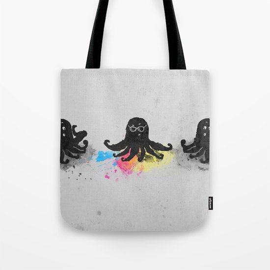 4-color squid Tote Bag