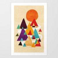Let's Visit The Mountain… Art Print
