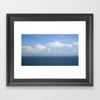 Ocean Sea Horizon With M… Framed Art Print