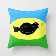 meg's crow Throw Pillow