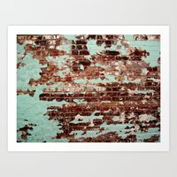 Half Naked Bricks Art Print