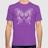 Henna Butterfly No. 1 Mens Fitted Tee Ultraviolet SMALL