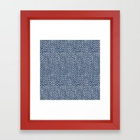 Hand Knit Navy Framed Art Print
