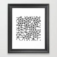 Segment Dense Black on White Framed Art Print