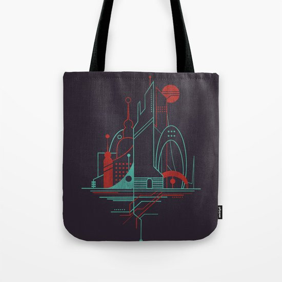 From the Subway to the Sky (at Night) Tote Bag