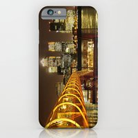 iPhone & iPod Case featuring London, Piers of Docklands Hilton by LudaNayvelt