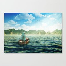 Swim back to shore Canvas Print