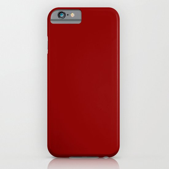 Dark red iPhone & iPod Case