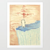 Bear On Ice Art Print
