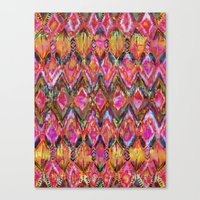 Ikat #32 Orange Canvas Print
