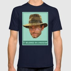 It Belongs In A Museum   Mens Fitted Tee Navy SMALL