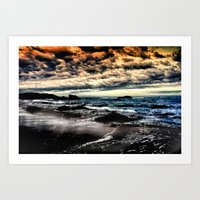 Another Day Fades Away Art Print