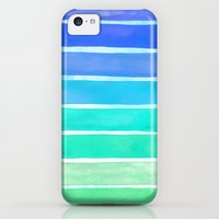 iPhone 5c Cases featuring Ocean Blue by Sara Eshak