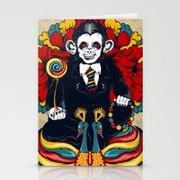 Buddha Monkey Stationery Cards