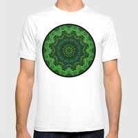 Harmony In Green Mens Fitted Tee White SMALL