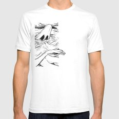 Breathe White Mens Fitted Tee SMALL