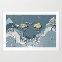 Blue kiss in spring Art Print
