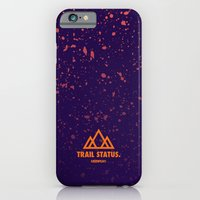iPhone & iPod Case featuring Trail Status / Purple by MSTRPLN®
