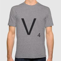 Scrabble V Mens Fitted Tee Athletic Grey SMALL