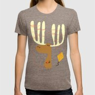 A Moose Ing Womens Fitted Tee Tri-Coffee LARGE