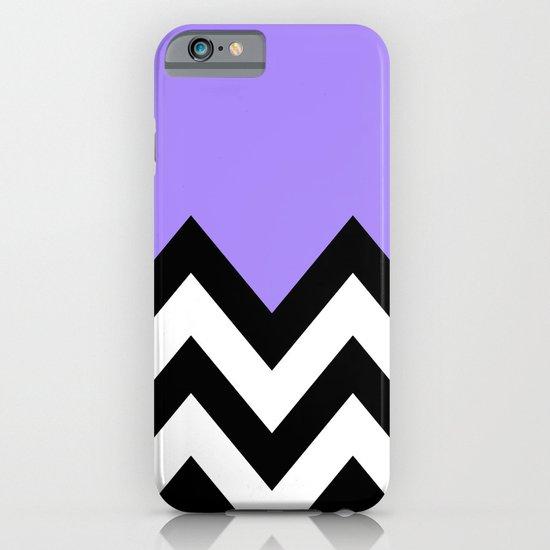 PURPLE COLORBLOCK CHEVRON iPhone & iPod Case