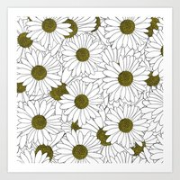 Daisy Yellow Art Print